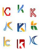 Alphabet letter K — Stock Vector