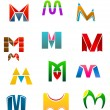 Symbols of letter M - Stock Vector
