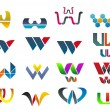 Symbols of letter W — Stock Vector #6740062