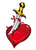 Heart with sword — Stock Vector