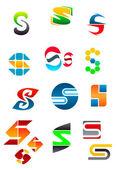 Alfabeto lettera s — Vettoriale Stock