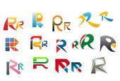 Alphabet letter R — Stock Vector