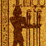 Egyptian hieroglyphs and fresco — Stock Vector