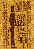 Affresco e geroglifici egiziani — Vettoriale Stock