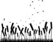Meadow silhouettes — Vecteur
