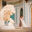Bride and groom in the palace — Stock Photo #5786626