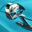 Stock Photo: Retro Car Side Mirror