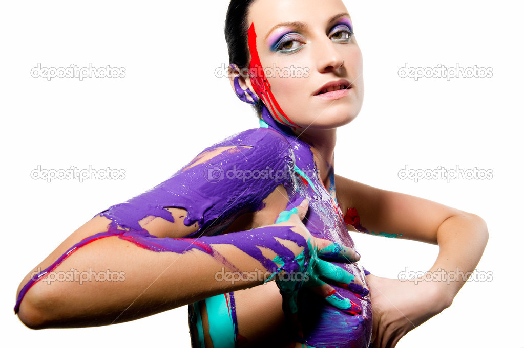 beautiful nude body paint