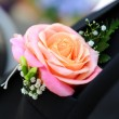 Buttonhole close-up - Stock Photo