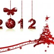 Merry Christmas and Happy New Year — Imagen vectorial