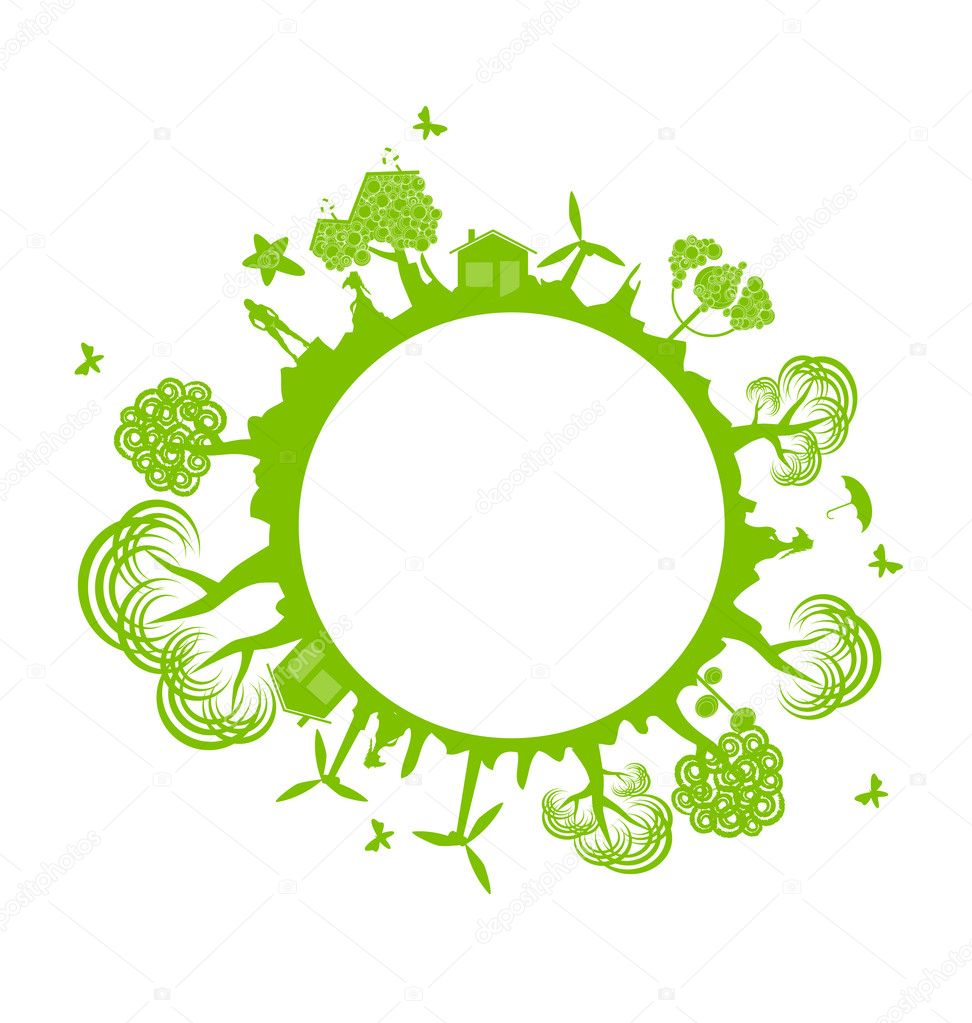 Environment banner - ecology concept  Stock Vector #6460361