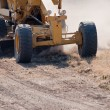 Road grader at work — Stock Photo