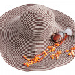 Stock Photo: Hat and adornment