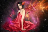 Woman with the wings — Stock Photo