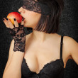 Woman with the apple — Stock Photo #5636831
