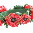 Bracelet with the poppy — Stock Photo