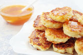 Pancakes with the cottage cheese — Stock Photo