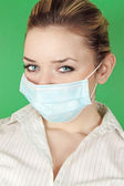 Woman in the medical bandage — Stock Photo