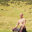 Man meditating — Stock Photo