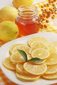 Honig und zitrone — Stockfoto