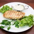 Steyk with green salad — Stock Photo #6024594