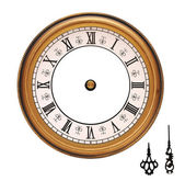 Vintage wall clock isolated on white background — Stock Photo