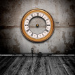 Vintage watch in old grunge room — Stock Photo