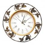 Vintage clock on white background — Stock Photo