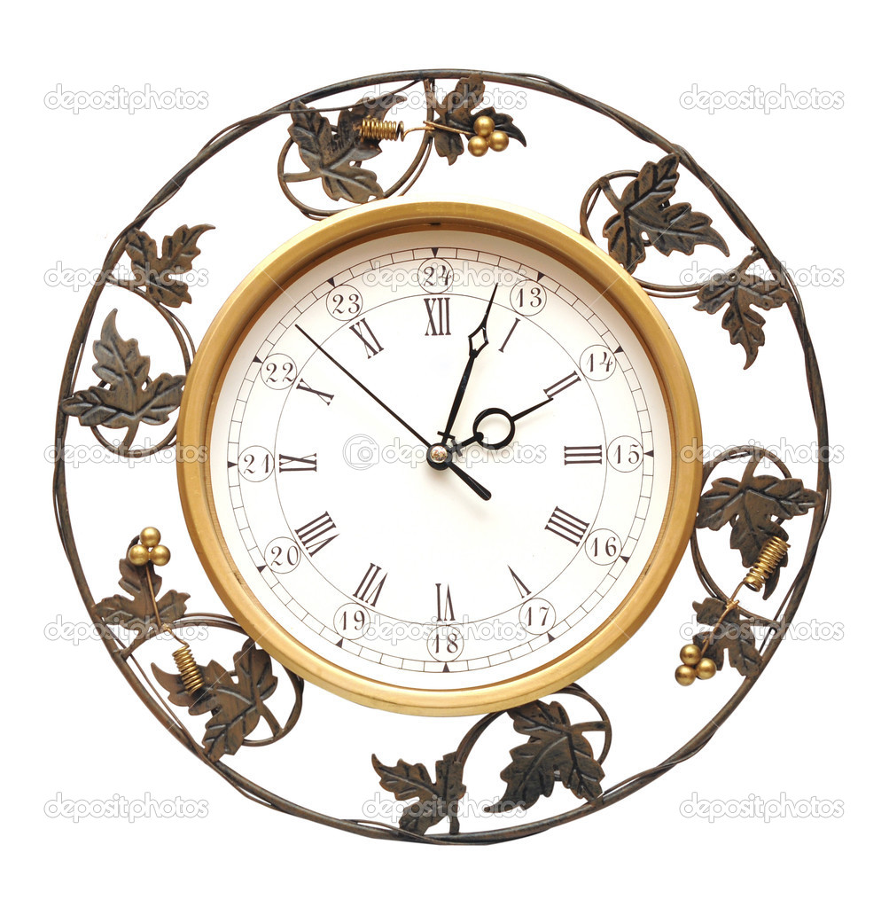Vintage clock on white background — Stock Photo #5475799