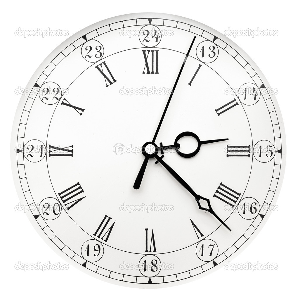 Vintage clock on white background — Stock Photo #5475846