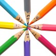 Royalty-Free Stock Photo: Happy group of pencil faces as social network