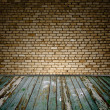Foto Stock: Old room with brick wall
