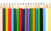 Various colour pencils isolated on the white — Stock Photo