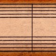 Empty music notes on old paper sheet, to use for the background — ストック写真