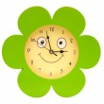 圆玩具时钟隔离在白色背景 — 图库照片