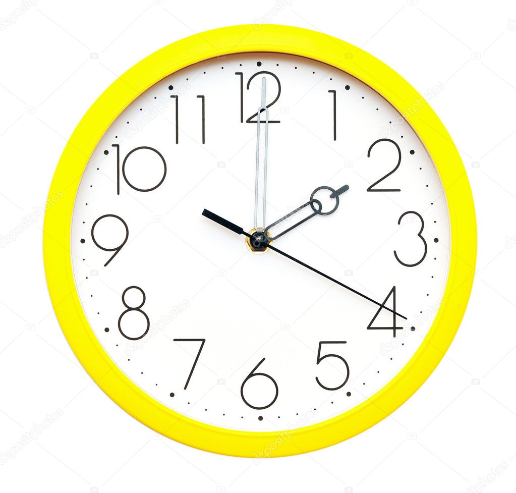 Yellow Wall Clock Stock Photo 169 Inxti74 5724701