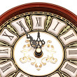 Time concept - vintage clock face - Stock Photo