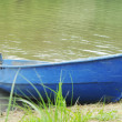 Stock Photo: Blue boat ashore