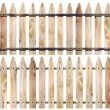 Stock Photo: Wooden fence isolate on white background