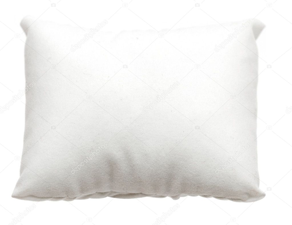 White pillow. Isolated on white — Stock Photo #5910669
