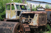Part of old abandoned tractor — Stock Photo