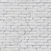 A white brick wall — 图库照片