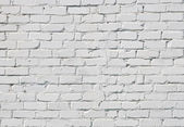 Una pared de ladrillo blanco — Foto de Stock
