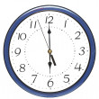 Blue wall clock - Foto Stock