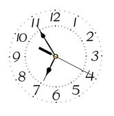 Clock face isolated on white background - time concept — Stock Photo