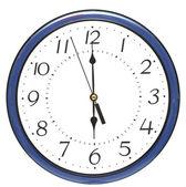 Blue wall clock — Stock Photo