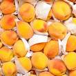 Peaches on market - Stock Photo