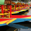 Stock Photo: Colorful boats on canal