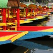 Colorful boats on canal - Stock Photo