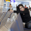 Alone in the airport - Stock Photo